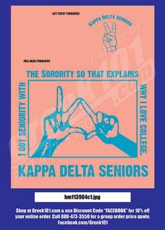 kappa delta shirts - needs cuter colors though..