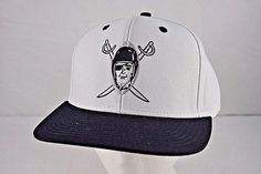 cc5be2bf542 Oakland Raiders White Black NFL Vintage Collection Reebok Baseball Cap  Snapback  Reebok  BaseballCap