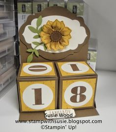 Stampin' Up!- Check out the new Gift Box Punch Board!  Lovin' my Perpetual Calendar I made!