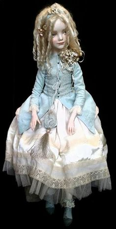 Artist porcelain doll - Katyusha,
