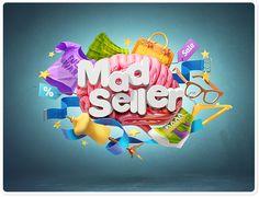 Mad Seller by Sasha Vinogradova, via Behance