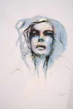"Saatchi Art Artist: Anna Maria Matykiewicz; Watercolor 2013 Painting ""Inperfect"""
