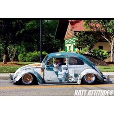 """Madness #RatRodRiot #RatRod #RatLook #Patina #Rust #Low #Lowered #Slammed #Dropped #Dumped #Stance #Stanced #VW #German #AirCooled #HoodRide #Follow…"""
