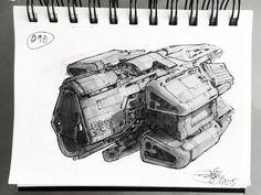 ArtStation - SpaceshipADay 098, Jeff Zugale