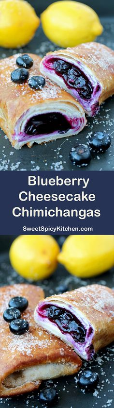 Here is your chance to try them. Chimichangas with cream cheese and blueberry sauce – a recipe for perfectly tasty Blueberry Cheesecake Chimichangas ♥