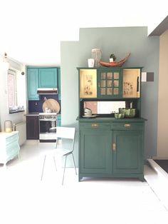 Deze kast is geverfd met de Annie Sloan Chalk Paint. Foto gemaakt bij Maison et Moi in Roosendaal