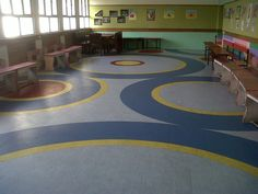 Modi School, Meerut (picture 1 of 3). Customised vinyl floorings