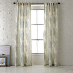 Ambi Printed Window Panel - contemporary - curtains - - by West Elm