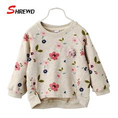 Kids Hoodies Girl 2016 Autumn New Fashion Flower Printing Toddler Girl Sweatshirt O-neck Long Sleeve Casual Kids Clothes 3298W #>=#>=#>=#>=#> Click on the pin to check out discount price, color, size, shipping, etc. Save and like it!