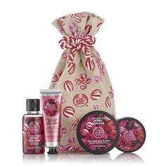 The Body Shop Festive Sack of Berry Bon Bon Delights Gift Set The Body Shop, Body Shop At Home, Body Shop Australia, Body Shop Christmas, Beauty And Beast Wedding, Lip Gloss Set, Berry, Cosmetics & Fragrance, Lip Lacquer