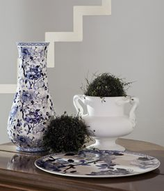 "Zastawa stołowa - Faïencerie de Gien - ""Collection Pivoines bleues"""