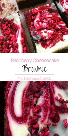 Raspberry cheesecake brownies. So. Damn. Good! Tasty and delicious.