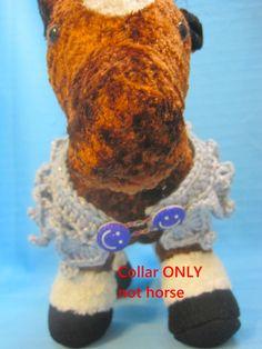 Pet Ruffle Collar Dog Cat Gray/Purple Small Handmade Crochet by Bren by HandCraftedByBren on Etsy