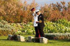 Harry et Charles au mémorial d'Abide en Turquie , le 24 avril 2015.