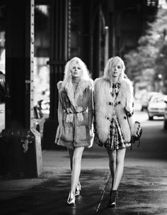 New York Dolls - Esmeralda Seay-Reynolds and Ola Rudnicka photographed by Boo George, styled by Giovanna Battaglia; W Magazine September 2014