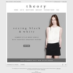 Theory - Black & White Essentials + New Styles Added to Sale