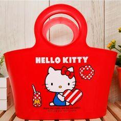 Sanrio Hello Kitty Multi Basket Organizer Storage Bath Bathroom Basket Kids Red #HelloKitty