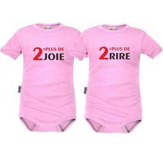 2 bodys bébé jumeaux: 2x plus de JOIE / 2x plus de RIRE - SiMedio
