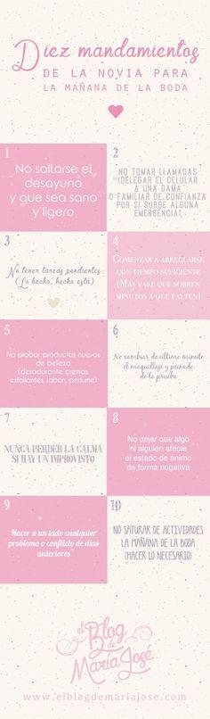 Diez mandamientos de la novia para la mañana de la boda