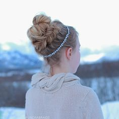 Fishtail wrapped messy bun on Linda Thank you all so much for your sweet comments on our last post!