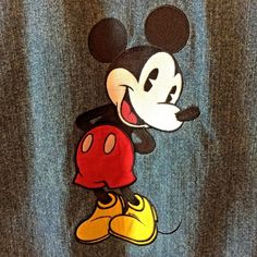 50b03fcc65c6f Mickey Mouse Disney Embroidered Denim Jacket Womens Large Snap Front Blue   Disney Embroidered Denim Jacket