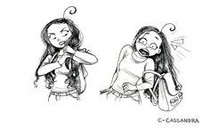 18 illustrations qui résument à la perfection le quotidien des femmes qui ont les cheveux longs : la 8 est trop vraie !