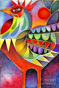 Karin ZELLER : Rooster abstract