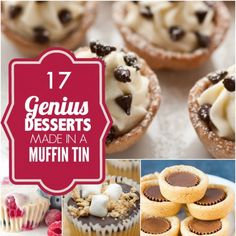 What's the best way to have a little something sweet without indulging in too much? Cut the portions with these Muffin Tin Desserts!