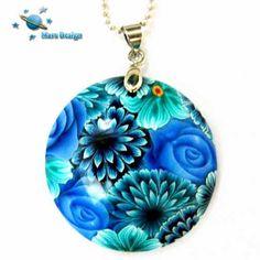 Blue flowers pendant | par Marcia - Mars design