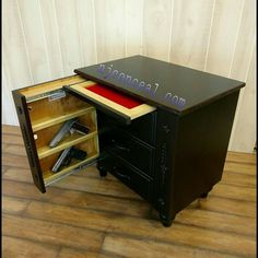 Beautiful Hand Crafted Cherry Nightstand Hardwood Plywood Back And Floor. Hidden Gun, Hardwood Plywood, Night Stand, Magazine Rack, Beds, Projects To Try, Flooring, Cabinet, Bedding