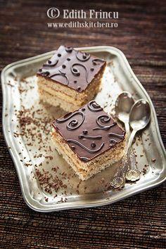 1 instant coffee and chocolate cake Yummy Eats, Yummy Food, Cheesecake, Romanian Food, Italian Desserts, Breakfast Dessert, Sweet Tarts, Homemade Cakes, Homemade Food