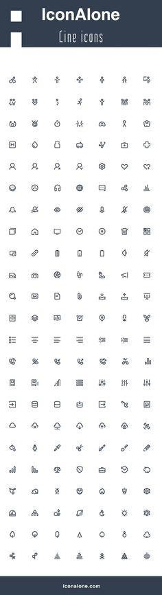 IconAlone line icons on Behance