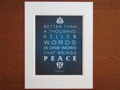 Peace 8x10 Matted Art Print by Earmark Social