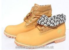 Women's Timberland Roll-Top Boots-Grey Wheat £71.20