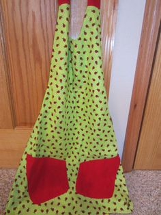 Classic Spring Summer  Reversible Apron With by MonkeyCatBoutique, $20.00