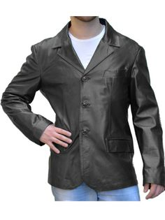 Giacca Blazer in Vera Pelle mod. classic - Pellein.com - Leather Jacket for Man