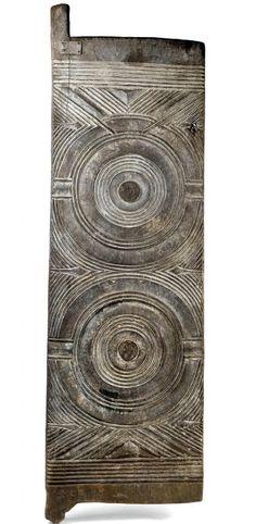 Africa | Door from the Ibo (Igbo) people of Nigeria | Wood | ca. 1st half 20th century