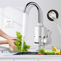 Kitchen Water Heater with EU Plug  Price: $ 27.92 & FREE Shipping  #interior #decoration #art #architecture #style #manziljamil #love #inspiration #interiors #furniture #handmade #luxury #manziljamil