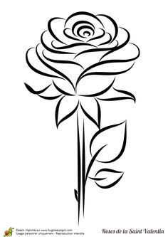 Coloriage d'une rose sublime, un cadeau touchant pour la Saint-Valentin