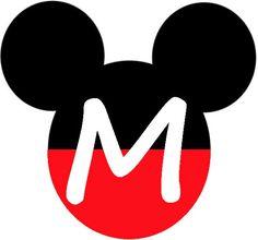 Mickey Heads with Alphabet. - Oh my Alfabetos! Mickey Mouse Clubhouse, Mickey Mouse Letters, Mickey Mouse Crafts, Theme Mickey, Fiesta Mickey Mouse, Mickey Mouse Decorations, Mickey Mouse Head, Mickey Party, Mickey Mouse Birthday