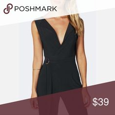 Black Jumpsuit ★ Black Jumpsuit  Fitted and also has some stretch Soft Comfy  UK 8 = Small/Medium  TUX STYLE. CATSUIT STYLE. D RING. Pants Jumpsuits & Rompers