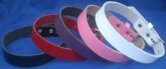 Leather Choker Necklace 20mm Plain Choice of Colours Hand