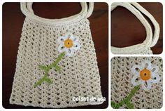 Coisas de Ada: Bolsinha de mão em crochê fio barbante fino, By Ad...