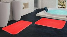 2 Pack Ultra Soft 17x24 Memory Foam Comfort Bath Mat ONLY $12.99 & Free 2-Day Shipping!