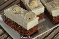 Chocolate cake with coconut cream Recipes with Laura Sava Source by Sweets Recipes, Easy Desserts, Cookie Recipes, Recipes With Coconut Cream, Cream Recipes, Romanian Desserts, Romanian Food, Mini Cakes, Bakery