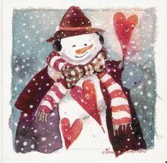 Sweet Heart Snowman