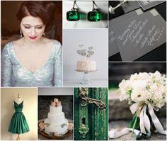 Emerald Green and Gray Wedding Inspiration--Design Loves Detail » Blog
