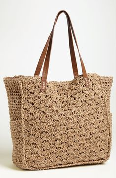 Free shipping and returns on Straw Studios Crochet Tote at Nordstrom.com. Crocheted straw sends waves of nostalgia through a warm-weather tote.