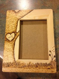 Custom Wood burned 5 x 7 picture frame by TwoPeasCountryStore