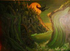 DIE BEDROHUNG,  Acryl auf Leinwand, 80 x 60 cm von Runa Argeya